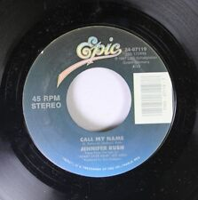 Pop 45 Jennifer Rush - Call My Name / Flames Of Paradise On Epic