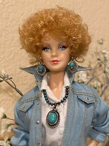 Handmade Jewelry for Barbie -Turquoise Necklace and Earrings