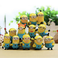 12pcs Set Cute Despicable Me 2 Minions Movie Character Figures Doll Toy Gift