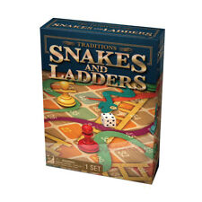 NEW Traditional Snakes and Ladders Folding Game Board Family Fun Christmas Gift!