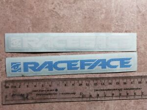 race face stickers blue and white