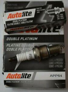 Autolite APP64 Double Platinum Spark Plugs Pack of 4