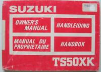 Suzuki TS50XK 1986/ 87 #99011-13633-012 Motorcycle Owner Handbook