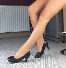Hush Puppies Size 4, Black Leather Comfortable Heels