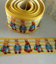 Peter Rabbit  ribbon 25mm  in lemon (1 metre),for bows, cakes & crafts