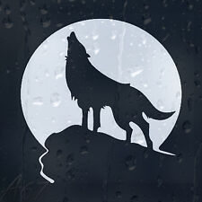 Wolf Howling At The Moon Car Laptop Phone Decal Vinyl Sticker Choice Of Colors