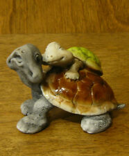 """Top Collection Enchanted Story Fairy Garden #4070 TORTOISE with BABY 2.25""""x3.25"""""""