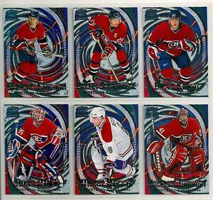 1997-98 Pacific Revolution Emerald Montreal Canadiens Team Set (6) Andy Moog Etc