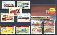 CONGO   TRAIN RAILWAY  1 BL +  11 x STAMP    ** MNH VF    PF PR EX