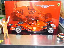 HOT RUEDAS RACING 1:18 F1 FERRARI CHAMPION BRASIL GRAND PRIX 2007 ARTE M0551