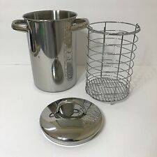 Tall ASPARAGUS STEAMER Pot Cooker STAINLESS STEEL with Lid & Basket
