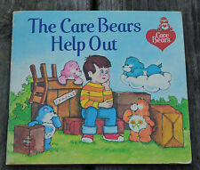 Vintage 1983 CARE BEARS HELP OUT Book ~ Moving House School Friends Move Sad Kid