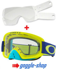 Oakley O-frame 2.0 Motocross 02 MX Goggles Yellow Blue Laminated Tear Offs