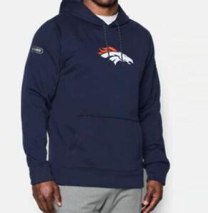 NFL Denver Broncos Under Armour Combine Authentic Performance Pullover Hoodie L