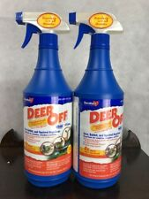 Lot of 2 Deer-Off DO32RTU Deer & Rabbit Repellent Ready-to-Use Spray, 32 Oz