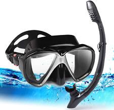 New listing EXP VISION Dry Snorkel Set, Anti-Fog Panoramic Scuba Snorkeling Mask and Foldabl