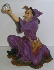 Zauberer 25cm Magier Merlin beschwört Zauberkugel Hexer Phantasy Deko Figur