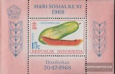 Indonesia block13 (complete.issue.) unmounted mint / never hinged 1968 Fruits