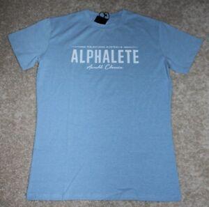 NEW Alphalete gym tshirt blue Melbourne Australia Arnold classic SIZE S-M-L-XL