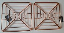 SET 2 COPPER ROSE GOLD KITCHEN WORKTOP SINGLE PAN TRIVET STAND SURFACE PROTECTOR