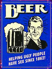 Beer Joke, Metal Aluminium Vintage Sign, Man Cave, Bar/Pub