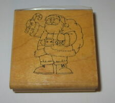 Santa Claus Stampin' Up! Rubber Stamp RARE Toy Bag Candy Cane Jolly Christmas
