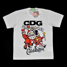 NWT Comme des Garcons x Better Avi Gold Coke CDG Celebration T-Shirt L AUTHENTIC