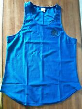 Mens Medium Quick Dry Breathable Tank Top Blue