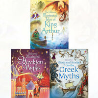 Usborne Illustrated Story Collections Series 2 : 3 Books Set Greek Myths PACK