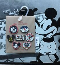 New listing Disney Junk Food Mickey Mouse Patches (7 pc. set) New (Htf)