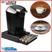 K Cup Pod Drawer Organizer Coffee Storage Holder Rack Stand Dispenser 30 K-Cups