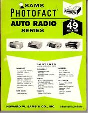 Sams Photofact-Auto Radio Manual/#AR-49/First Edition-First Print/1968