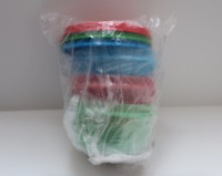 Tupperware Ideal Lil Bowls Set~BPA Free~ Red, Blue & Green w/ Matching Seals New