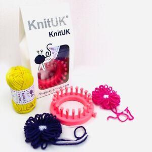 KnitUK Flower Loom 20 Pegs. Pink loom: 9cm diameter. 1 Unit