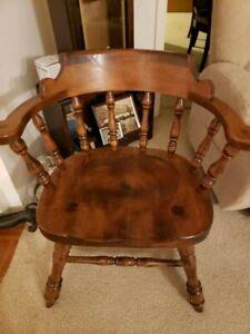 Antique Vintage Mid Century House Barrel Back Captains Chair East Arlington VT