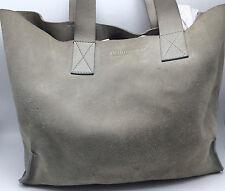 1C2 Pedro Garcia Suede Shopper Suede Leather Tote Grey Fashion Women Purse
