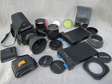Mamiya Rb-67 Camera 120 Film Holder 50, 90,180mm lenses Filters