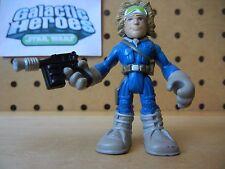 Playskool Star Wars Galactic Heroes / Jedi Force HOTH HAN SOLO Blue Snow Gear