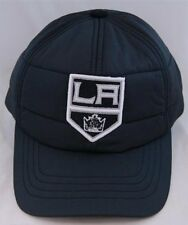 NHL Hockey American Needle Los Angeles Kings Outdoorsman Black Cap Quilted Wi...