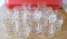 Lot of 2 Dozen Clear Plastic  Polycarbonate  Tealight Cups