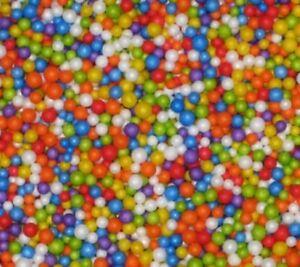 Coloured Styrofoam Balls Polyst Filler Beads Decor Crafts Art Project Free P&P