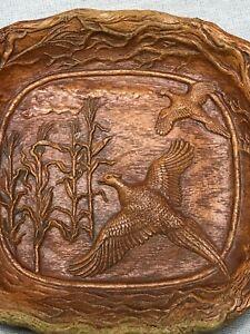 MULTI PRODUCTS INC Home DecorDISH Bowl Vintage Carved Plastic Wood Trees Birds