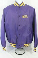 Embroidered Badgers West Ark Purple Coat Jacket Made in USA Size L Large