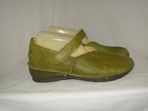 LOINTS OF HOLLAND Chaussures Femme P.38 Cuir vert Ballerines Babies Confortables
