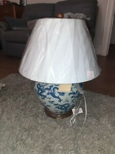 Ralph Lauren Home Large Dragon Chinese Painted Porcelain Table Lamp bnwt c57 cm