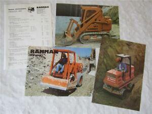 3 Prospekte Rammax RW2900 RW6000 LR-2 Walzen und Preisliste von 1988