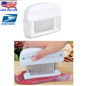 48 Needles Stainless Steel Blade Meat Tenderizer w/ ABS Plastic for Beef Port