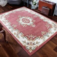 Aubusson Design 100% Wool Rug  High Quality Super Thick Hand tufted Rug 25%OF