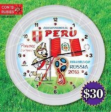 clock RUSIA 2018 MUNDIAL DE FUTBOL SELECCION DE PERU reloj soccer FPF