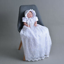 Newborn Baby Christening Gown Infant Lace Baptism Dress ablution Full dress 0-9M